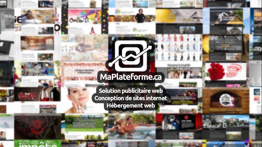 Website advertising web in the Lanaudière region