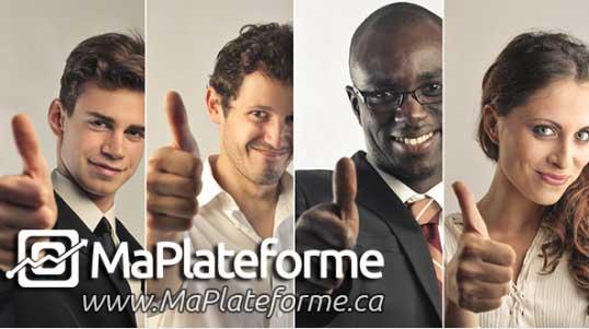 MaPlateforme.ca est une solution publicitaire web de conception et création site internet et gestion des médias sociaux